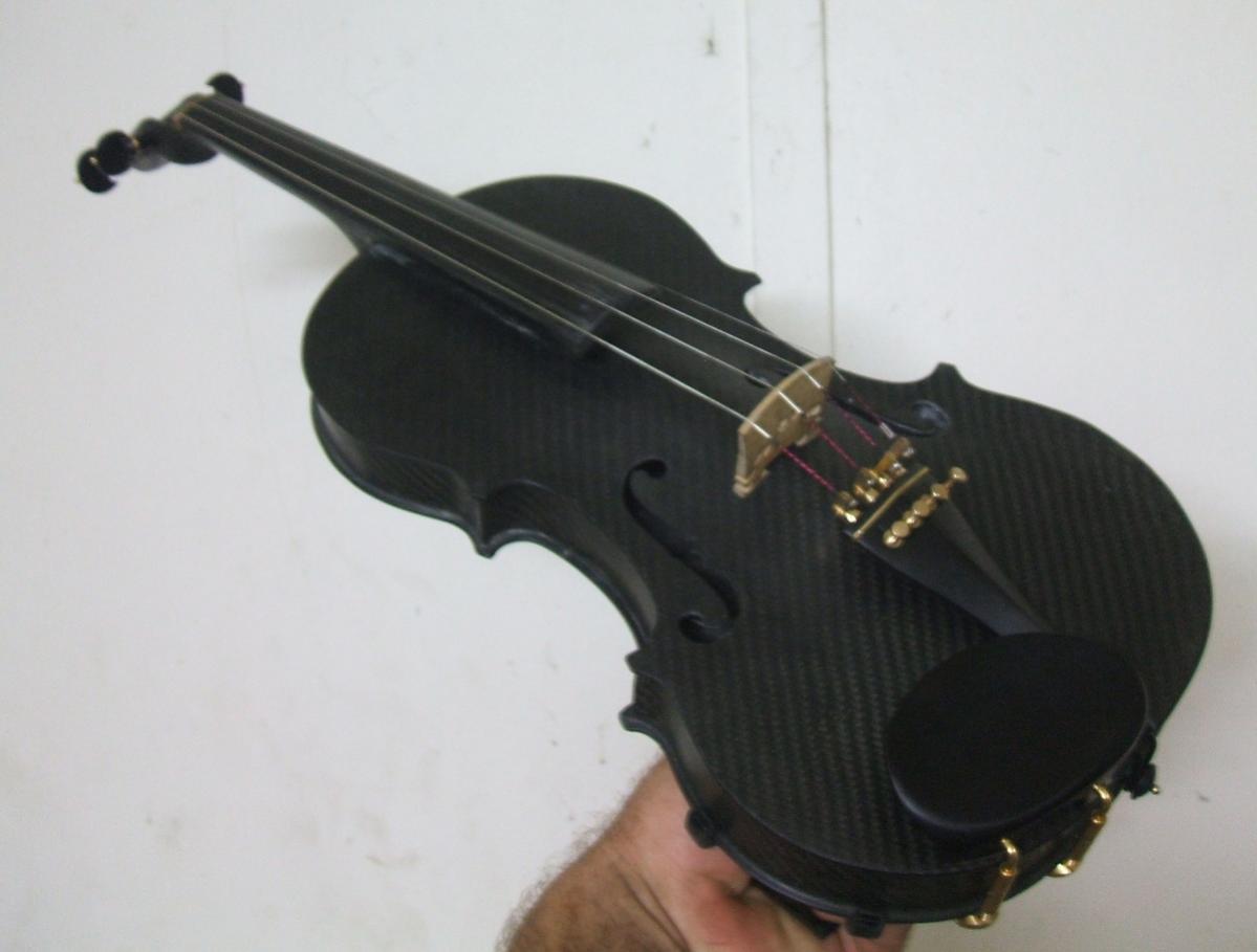A carbon fibre violin i made from scratch