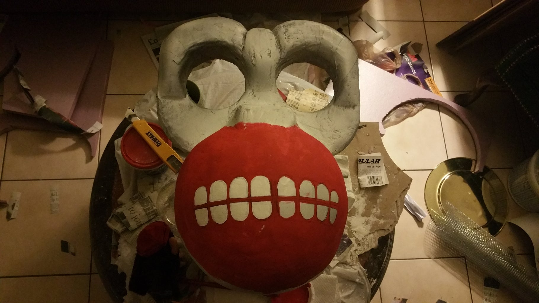 Painting and Jaw/Eyes!