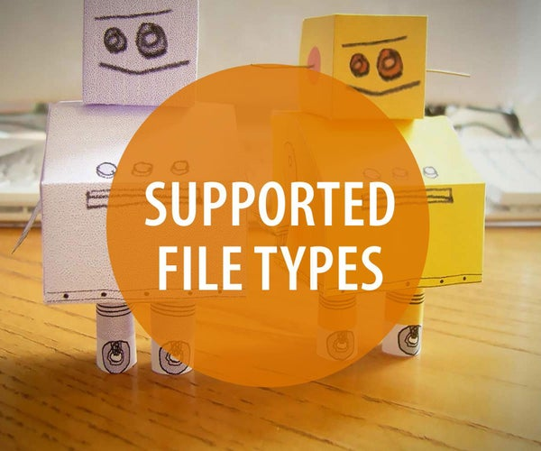 Supported File Extensions