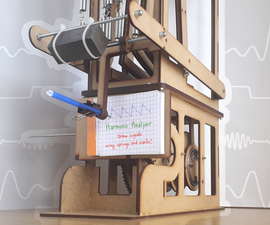 Harmonic Analyzer : Mechanical Lasercut Signal Plotter