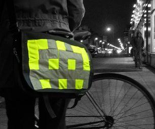 Big Bag Badges: Sew-on Hi-vis Badges for Cycling/running