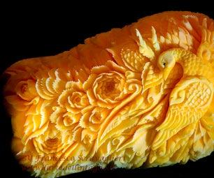 Bird Carving Pumpkin