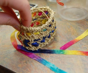 Hemp and Ribbon Crochet Jewelry