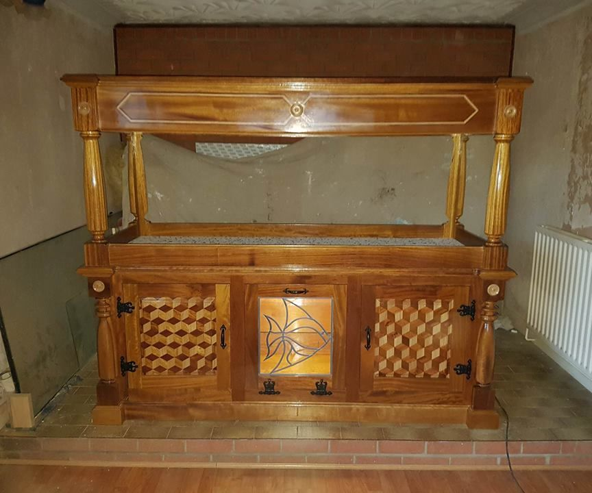 Diy hardwood fish tank stand/surround