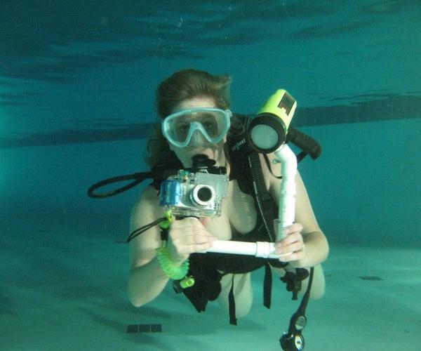 DIY PVC $10 Underwater Light Arm