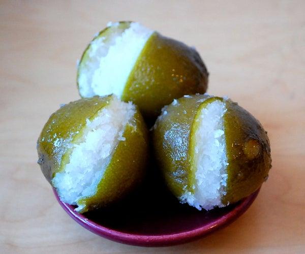 Limones Rellenos De Cocada - Coconut-stuffed Limes