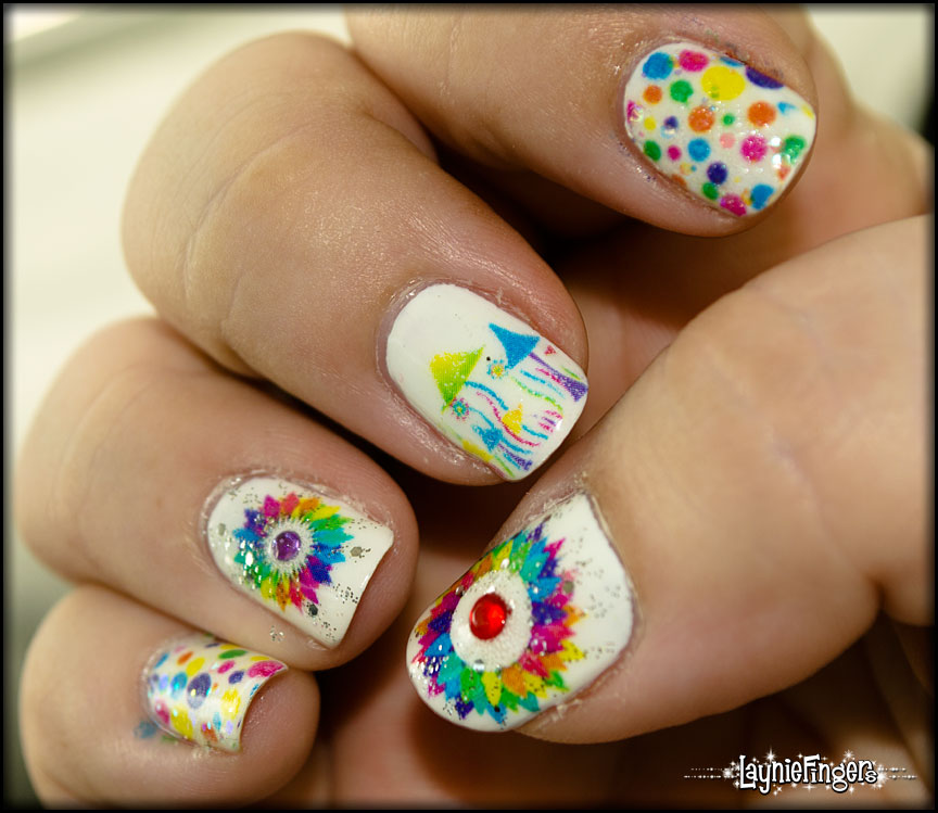 Laser print nail art: creating beautiful, intricate, colorful nail art the easy way