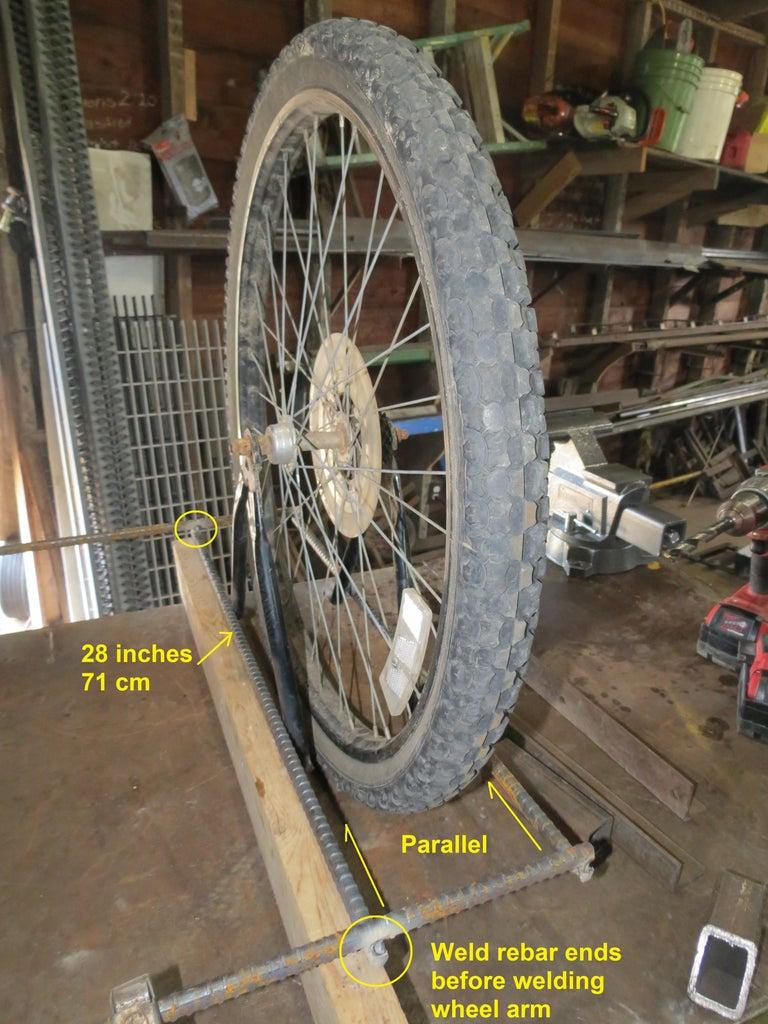 Weld Inner Rebar Parallel to Wheel