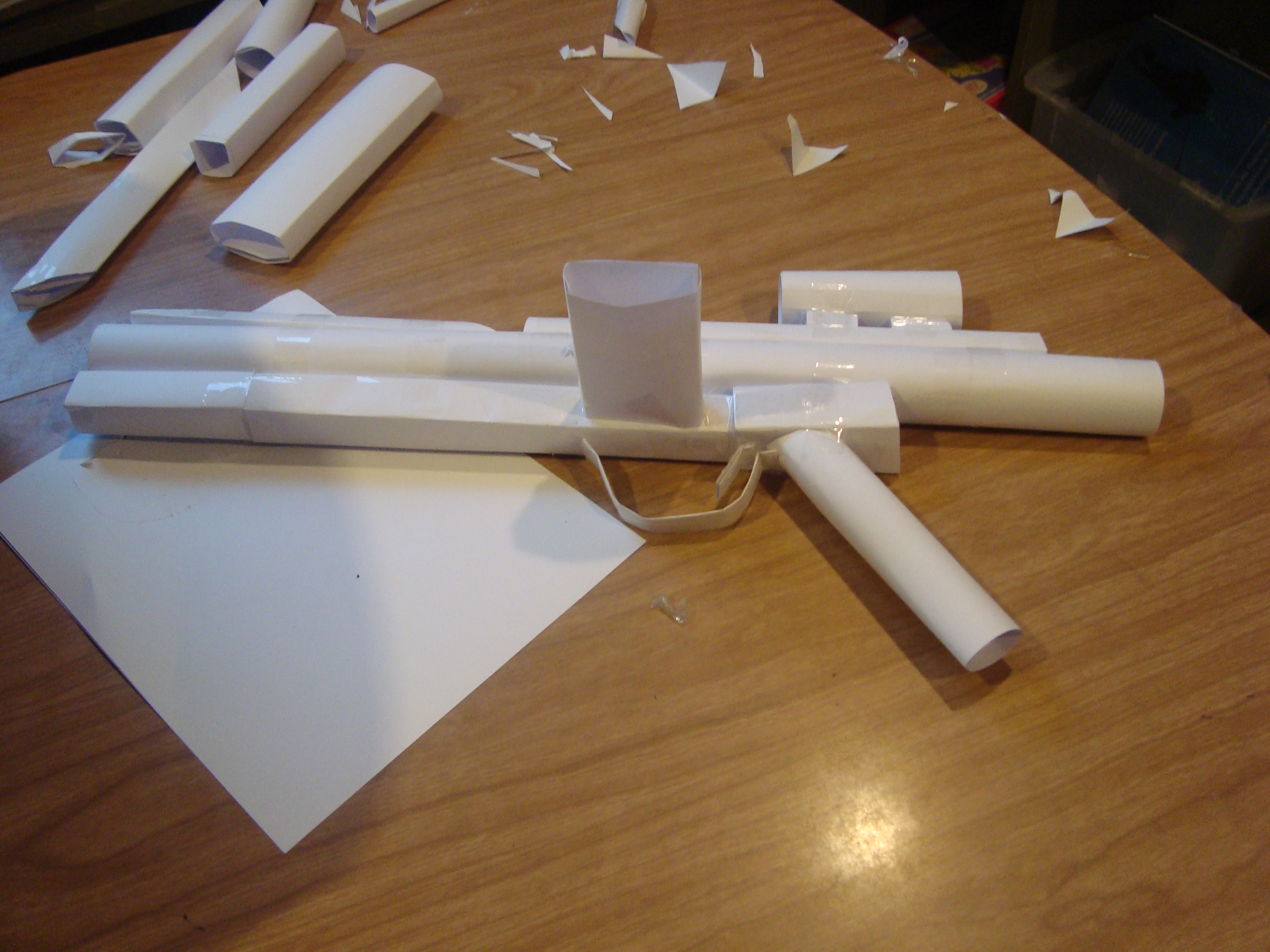 Star wars gun made of paper