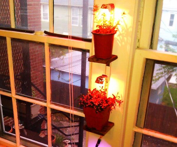 Hanging Plant Shelf - Usb/solar Powered DIY