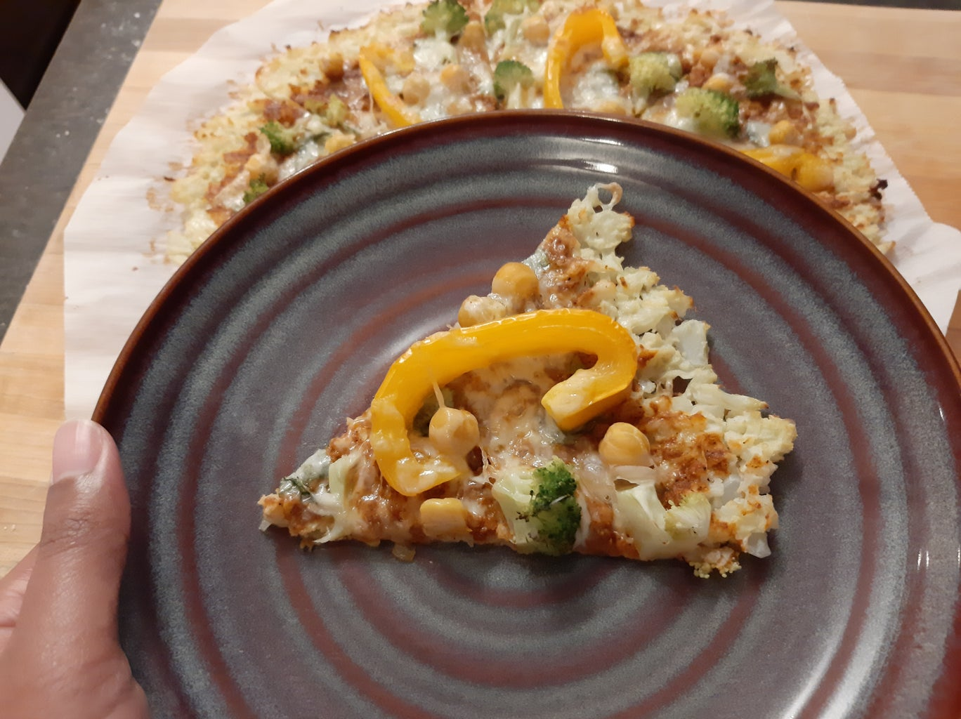 Curry Inspired Pizza With Cauliflower Crust