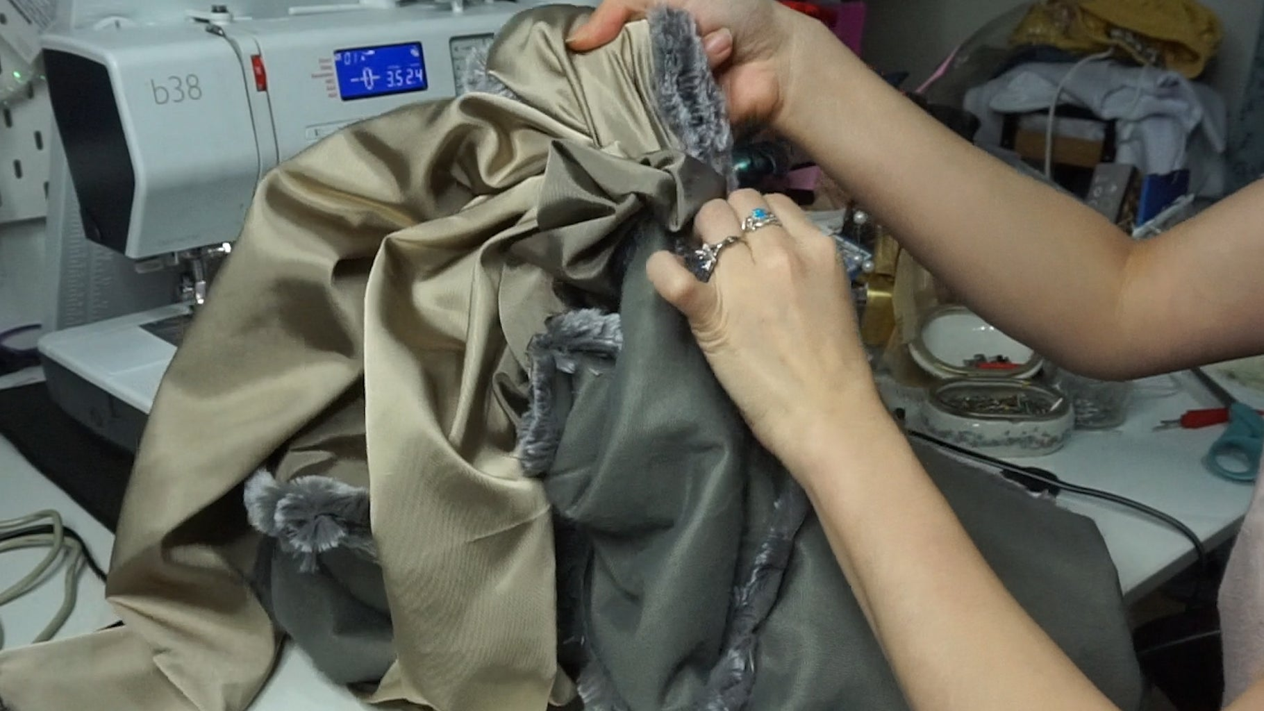 Step 5: Add the Lining to the Fur Jacket