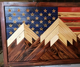 Patriotic Mosaic Wood Mountains