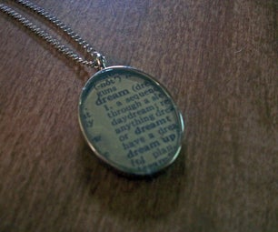 Definition of a Dream - Dictionary Necklace