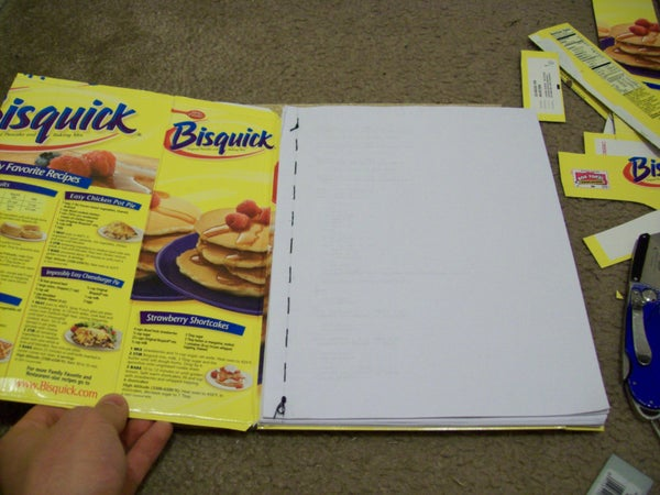 Recycled Material Composition Book