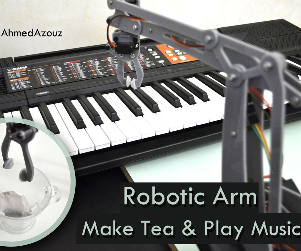 Musician and Assistant Robotic Arm