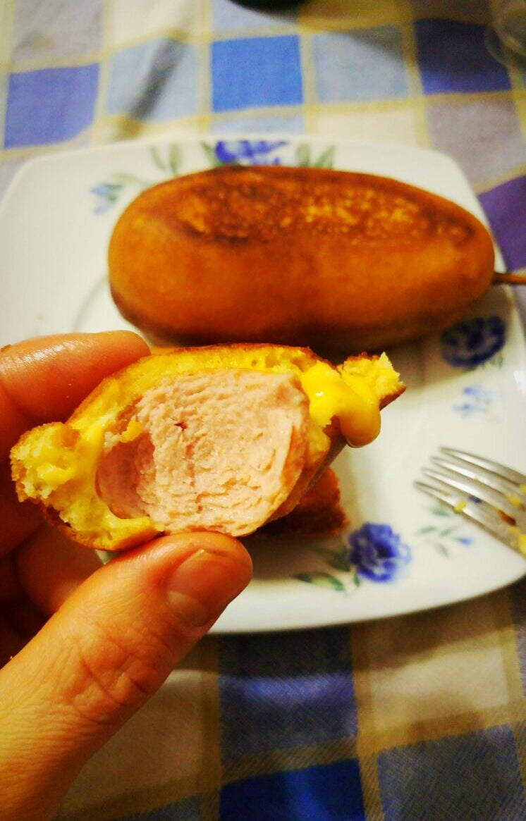 Corn Dogs and Cheese Inside Copycat