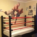 Make a wrestling ring bed