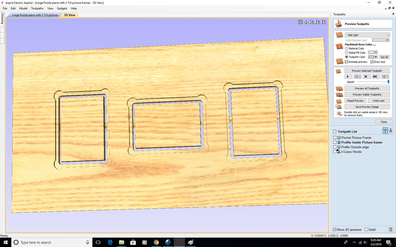 Preview Toolpaths
