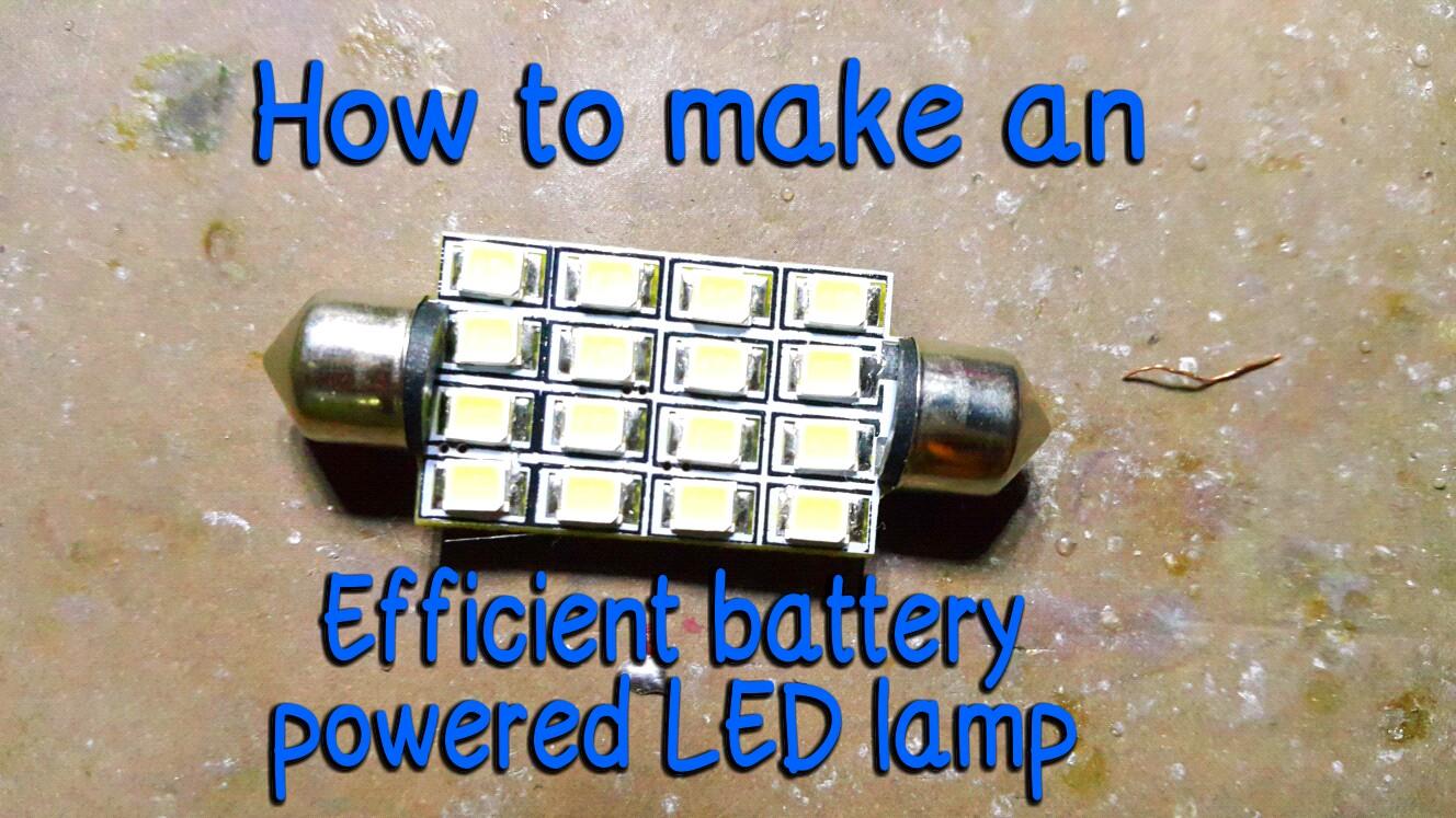 More efficient version LED lamp.