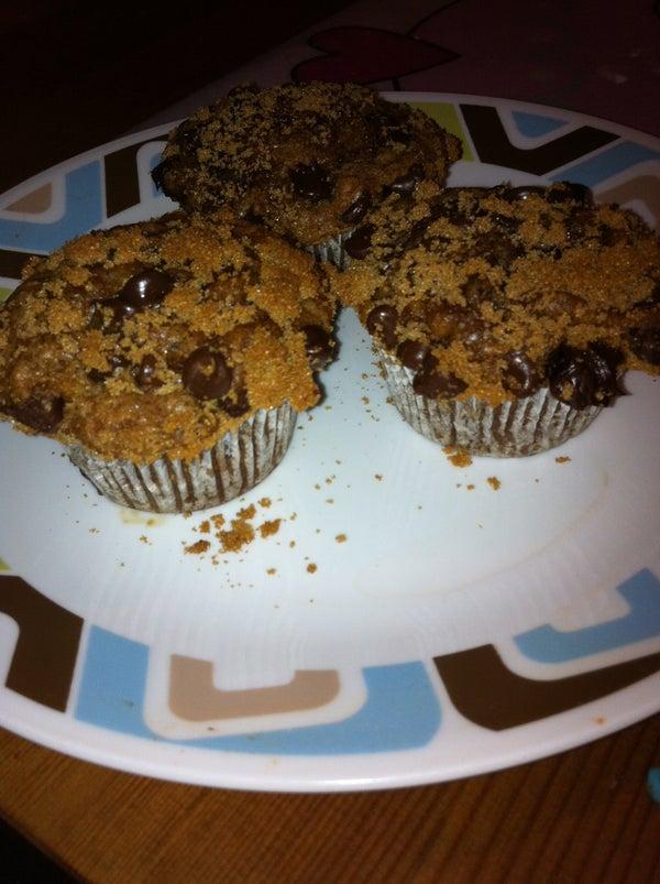 Banana Coffee Chocolate Chip Muffins