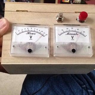 Analog VU Meter and Clock (Arduino Powered)