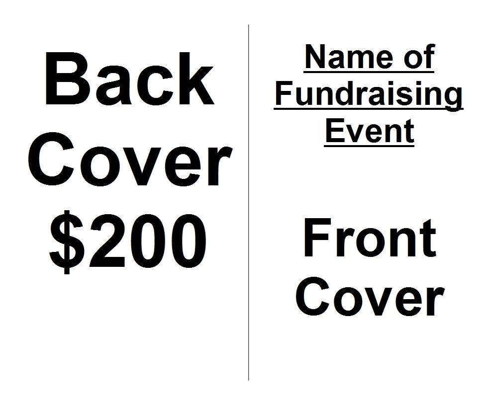 Fundraiser Event Program Template/Sample With Ads