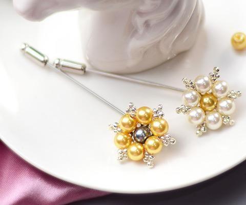 Beebeecraft Tutorials on How to Make Pearl Snowflake Brooch