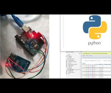 Attendance System by Sending RFID Data to MySQL Server Using Python With Arduino