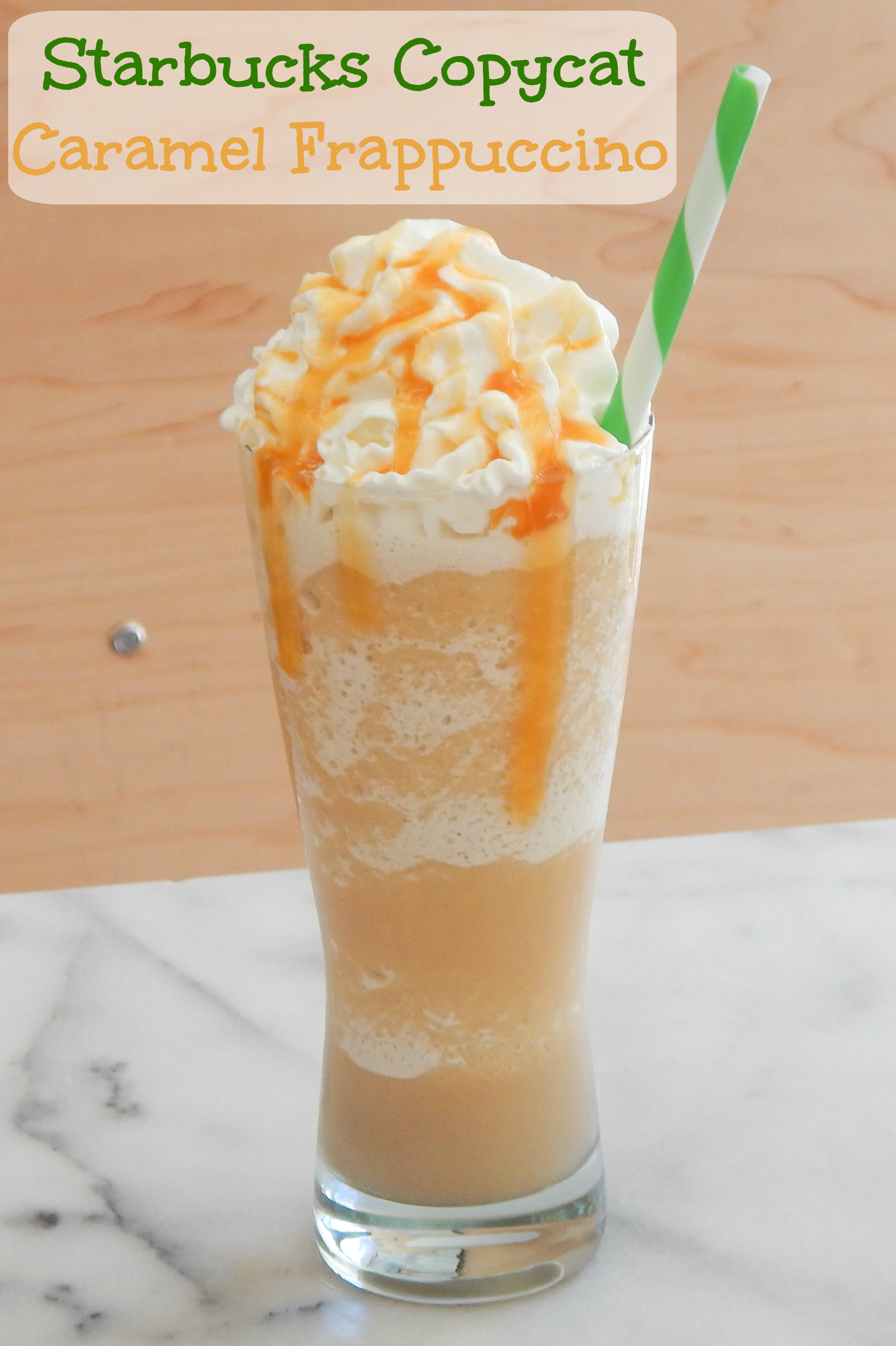 Caramel Frappuccino Recipe 3 Steps With Pictures