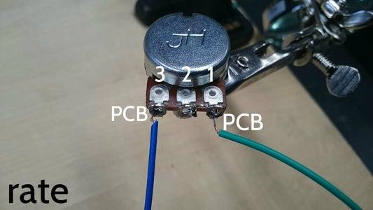 可変抵抗器(ボリューム)の配線