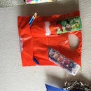 Hanging Organizer From Plastic Shopping Bags