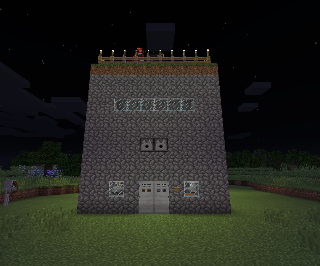 Minecraft all-in-one safety shelter