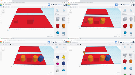 Adding Shapes With Dimensions to Page 1