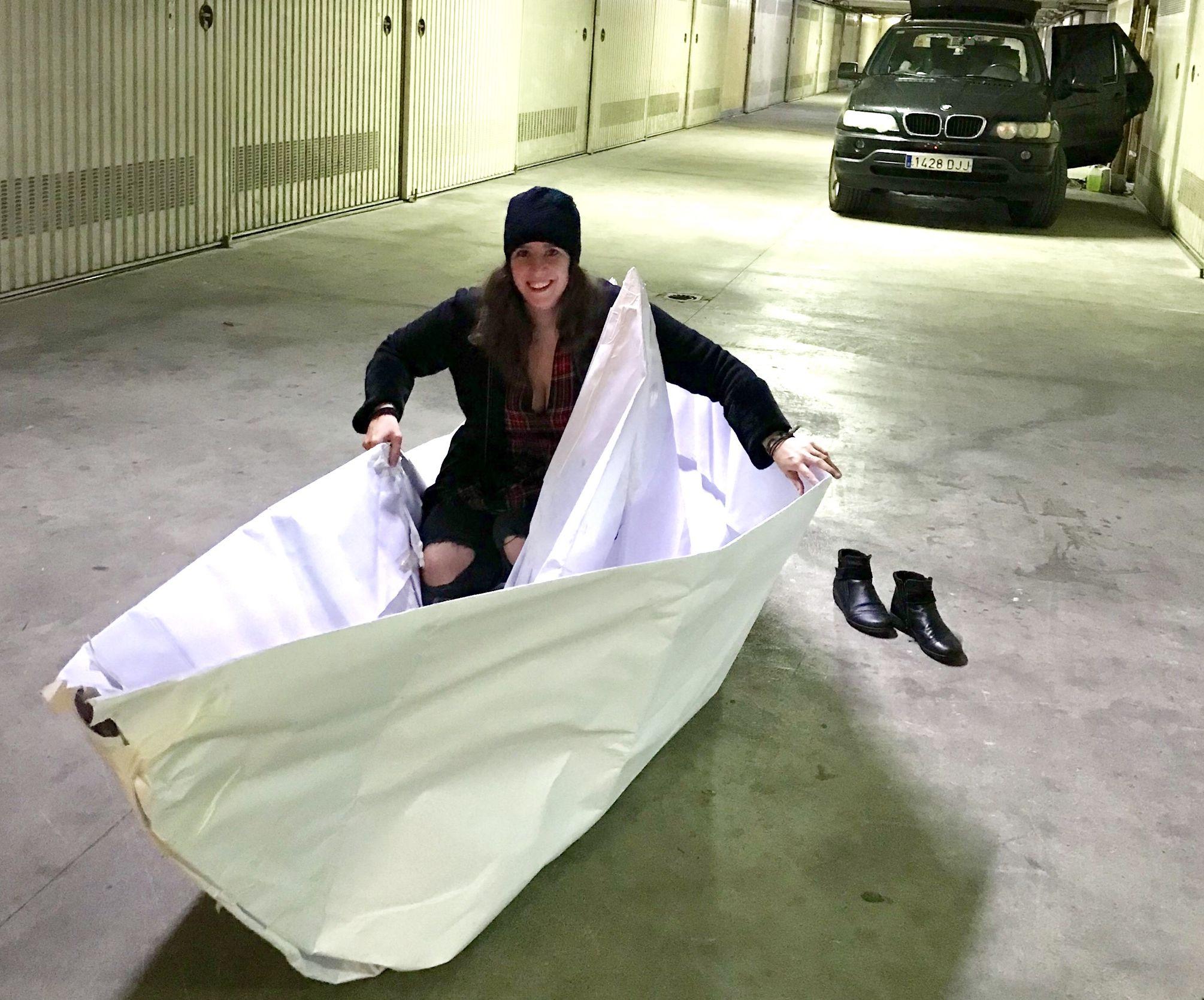 Big Paper Boat!