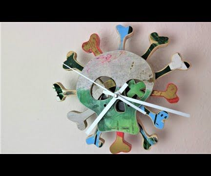 Skateboard Recycling Wall Clock DIY