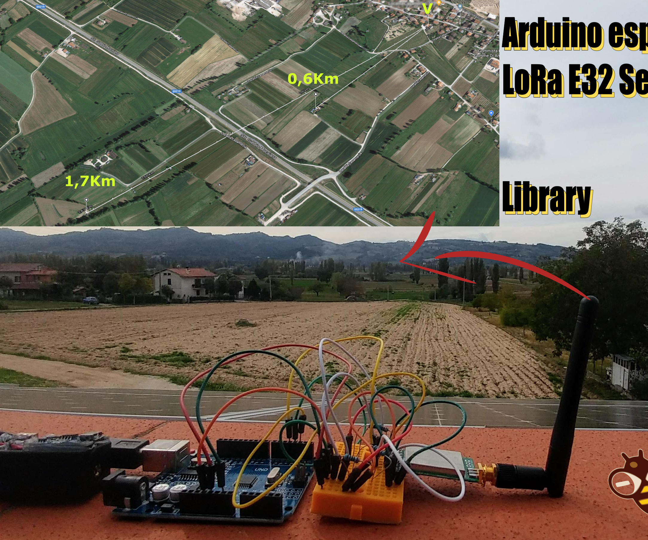 LoRa 3Km to 8Km Wireless Communication With Low Cost E32 (sx1278/sx1276) Device and Arduino or Esp8266 or Esp32
