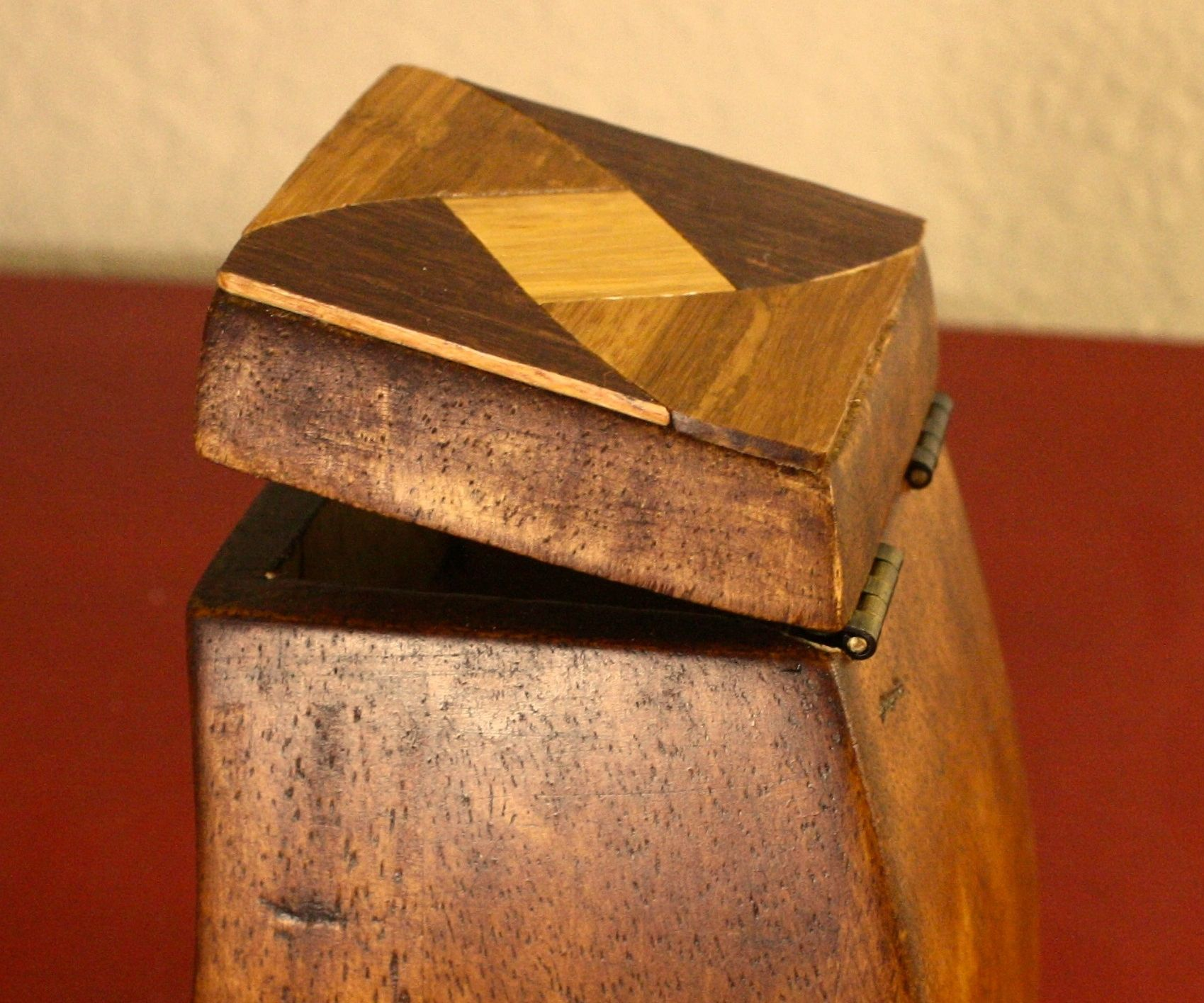 Upcycled Sofa Foot Box (with Bonus Marquetry)
