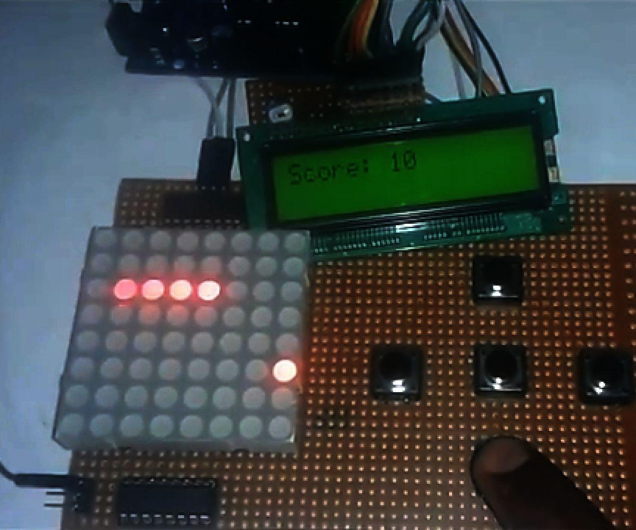 Arduino Snake Game With 8x8 LED Matrix