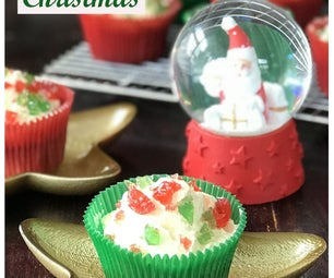Christmas Cherry Cupcakes