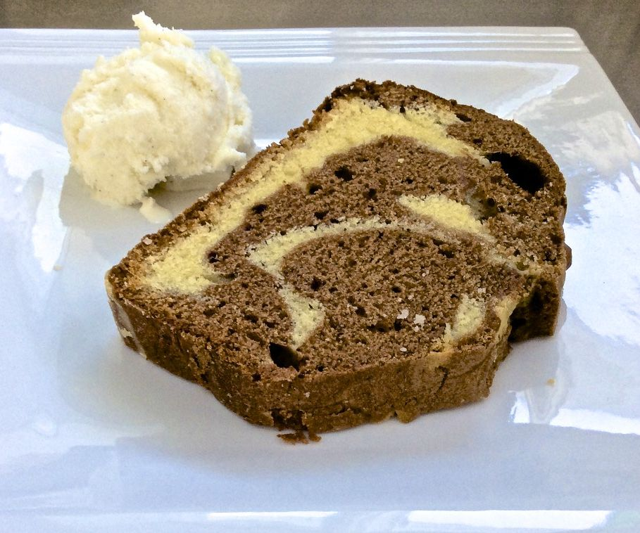 White + Chocolate Marble Cake