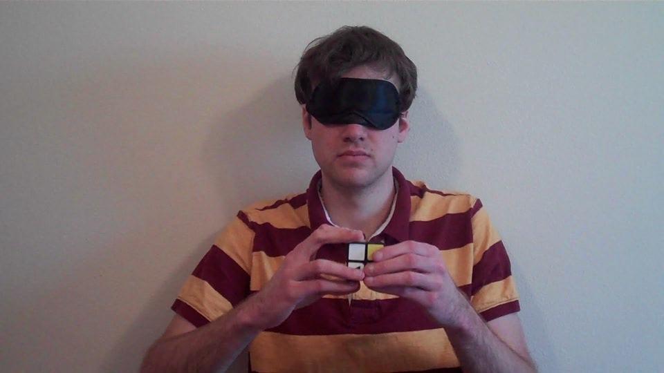 Solving a 2x2 Rubik's Cube Blindfolded