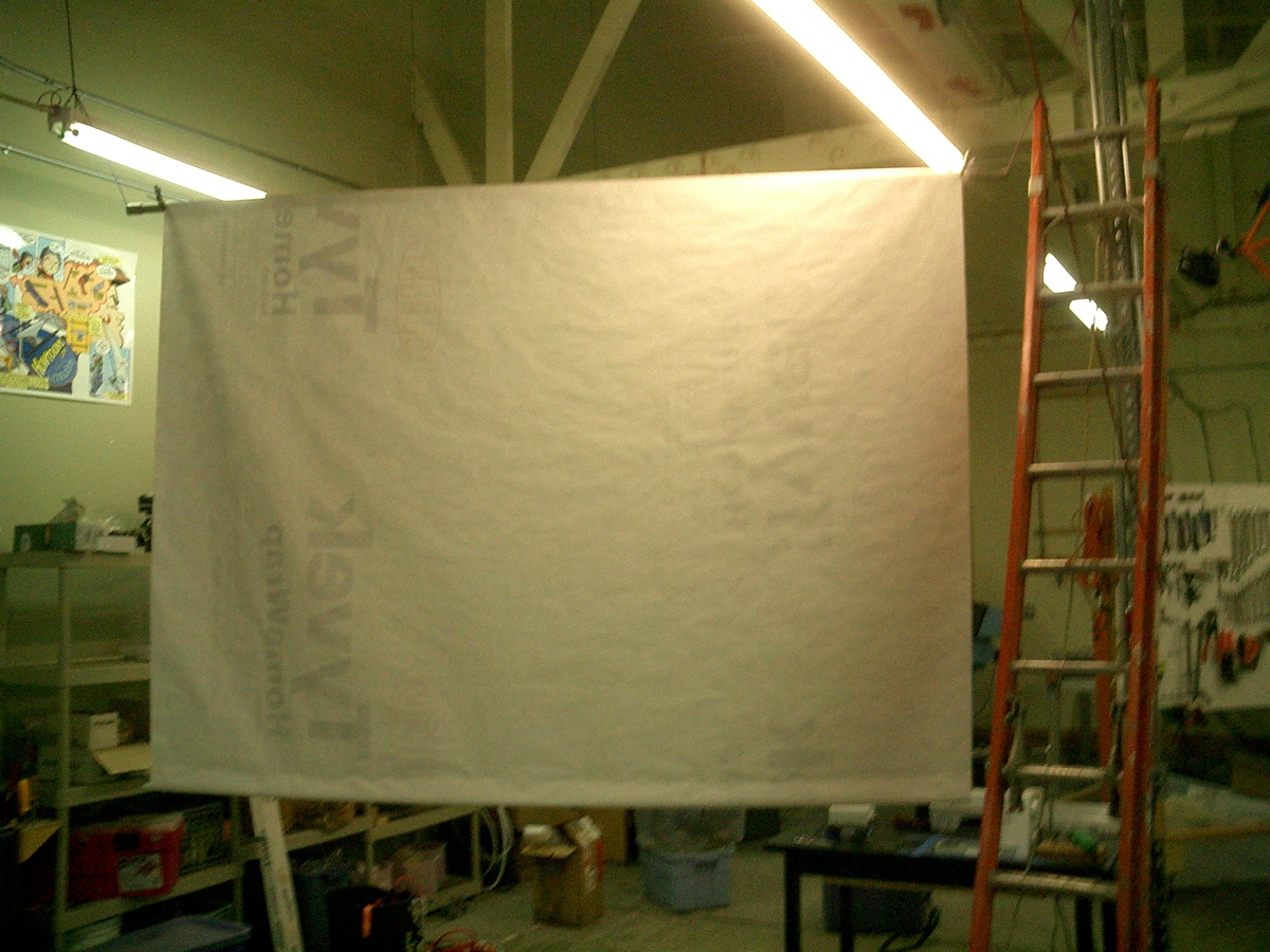 Tyvek Projector Screen
