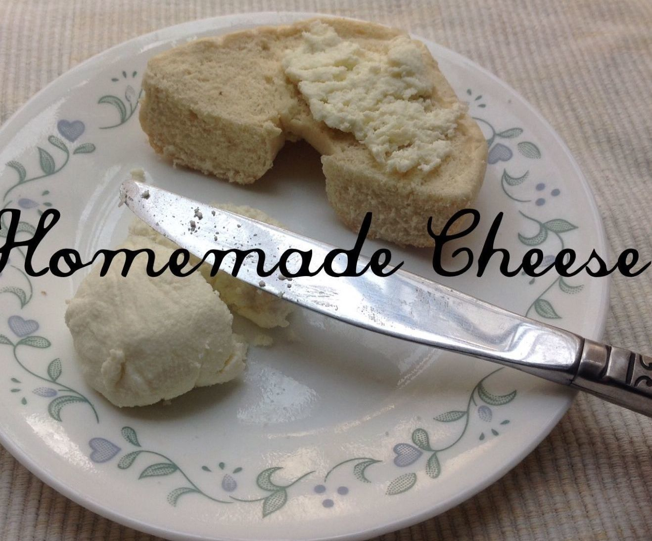 Homemade cheese with simple ingredients in your kitchen