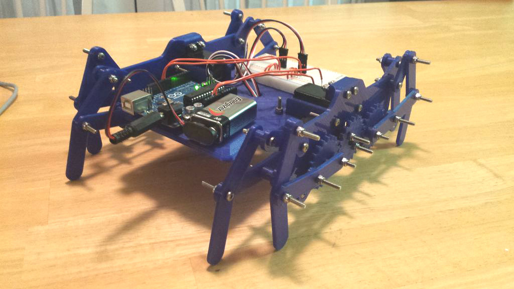 3D Printed Walking Robot (Klann Linkage)