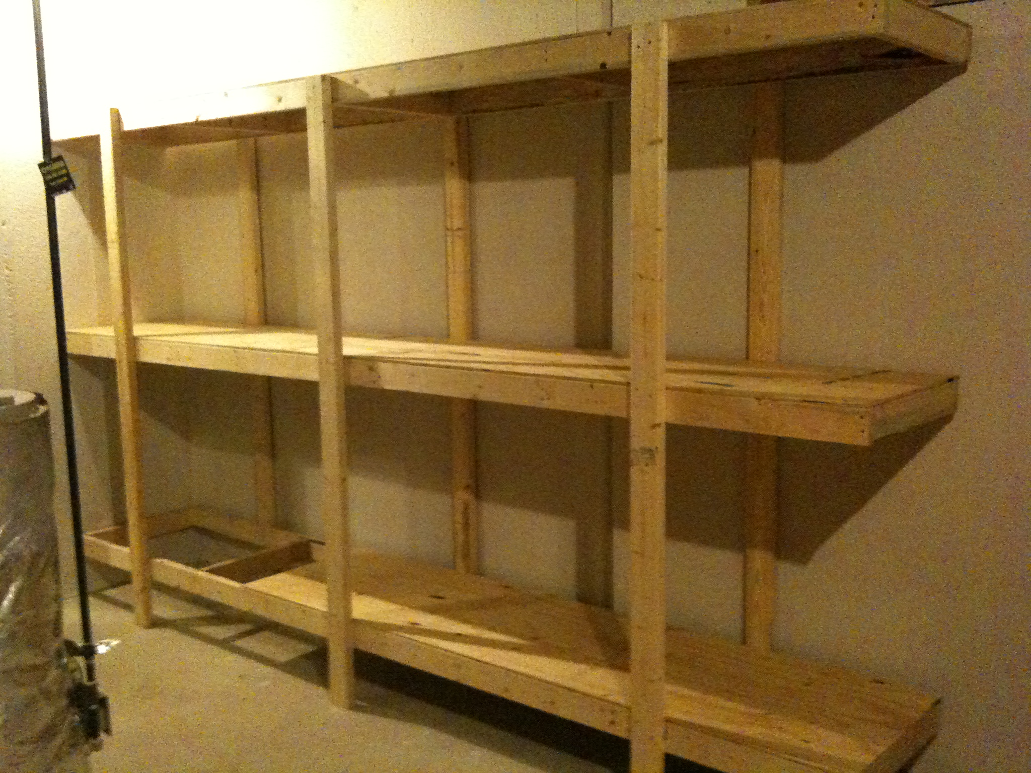 Build Easy Free Standing Shelving Unit For Basement Or Garage 7 Steps With Pictures Instructables
