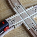 Custom Wooden Train Track X-crossing