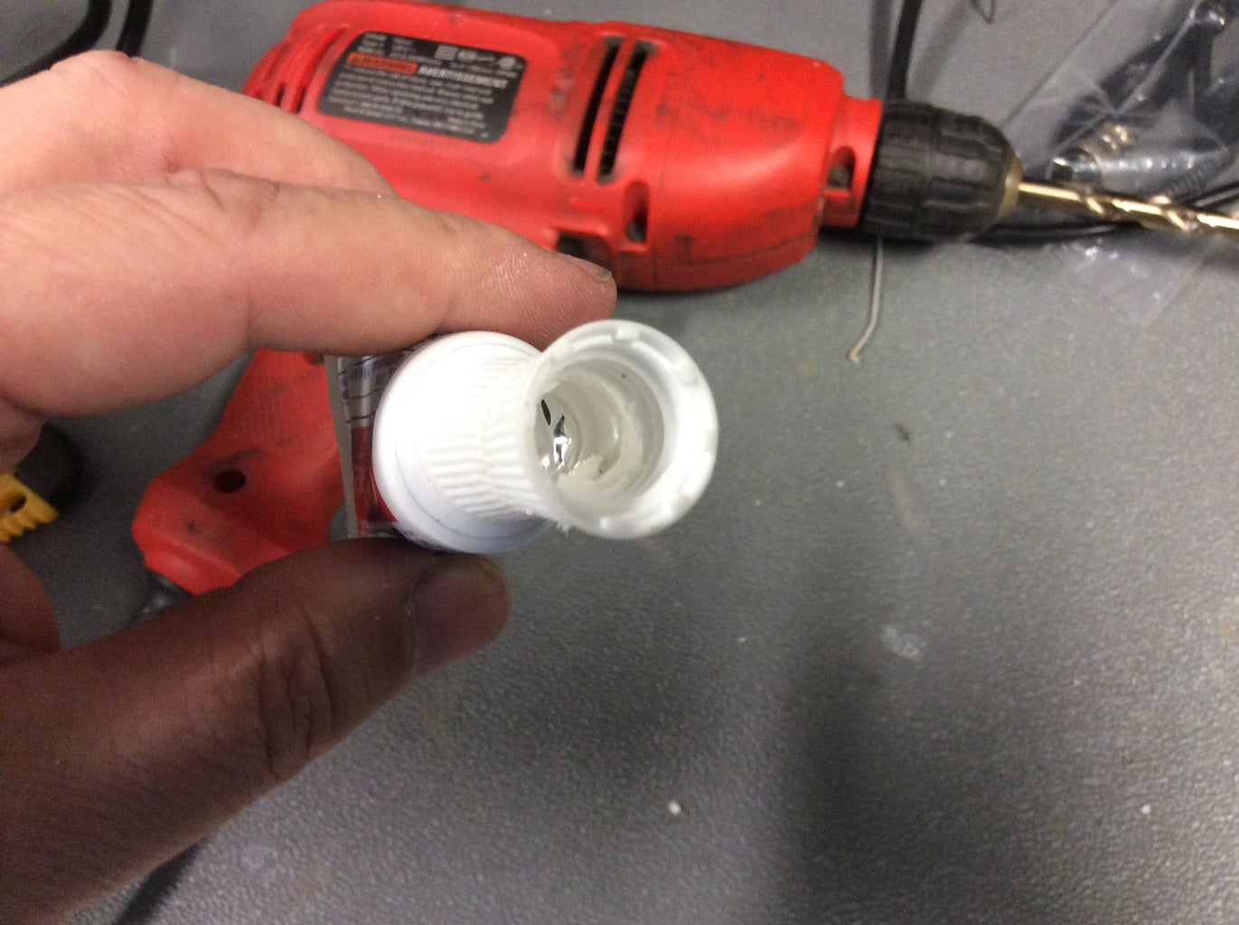 Step 3: Drill Out the Ends of the Caps to Allow Paste Flow