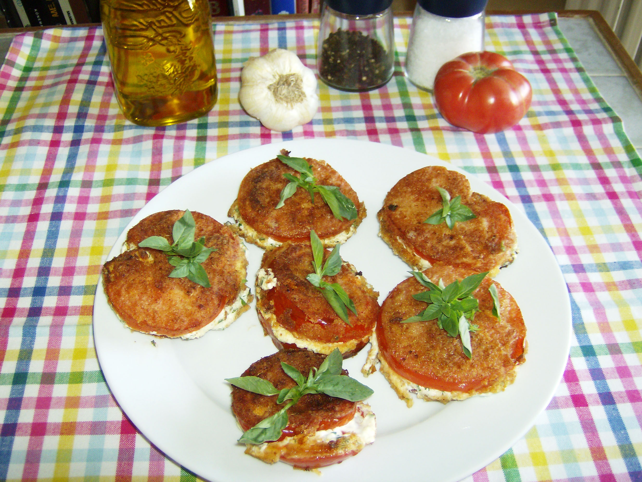 Fried Tomato Sandwiches.