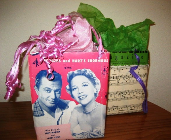 Gift Bags From Cereal Boxes